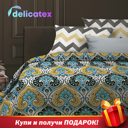 מצעי סט Delicatex 6528-1 + 6529-1Persia בית טקסטיל מצעי סדינים כרית מכסה שמיכה כיסוי Рillowcase