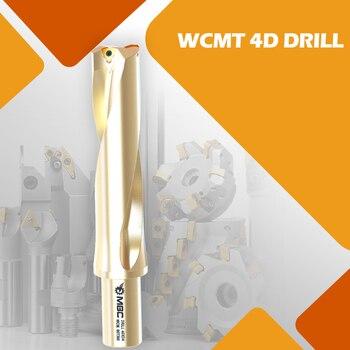 MBC 1pcs U Drill 4d milling cutter,metal drilling,tool holder,turning tool,drill bit,core drill bit  inserts wcmt040208 matched inserts spmg07t308 drilling bit indexable drilling tool u drill ud30 sp07 260 w25