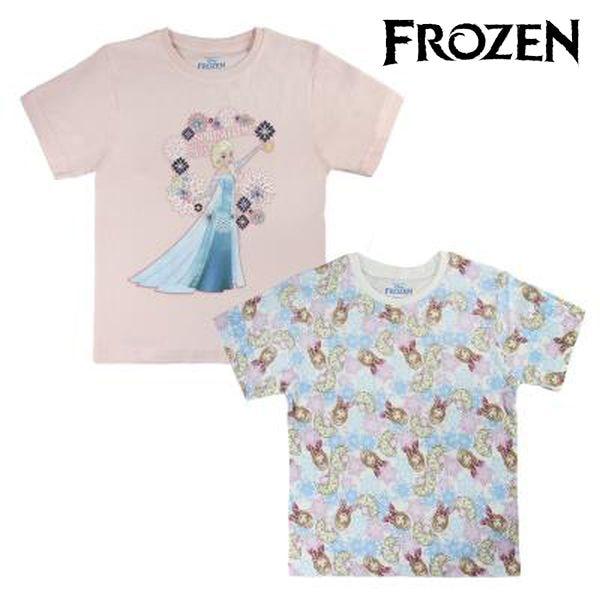 Child's Short Sleeve T Shirt Frozen 72680 Sky blue - title=