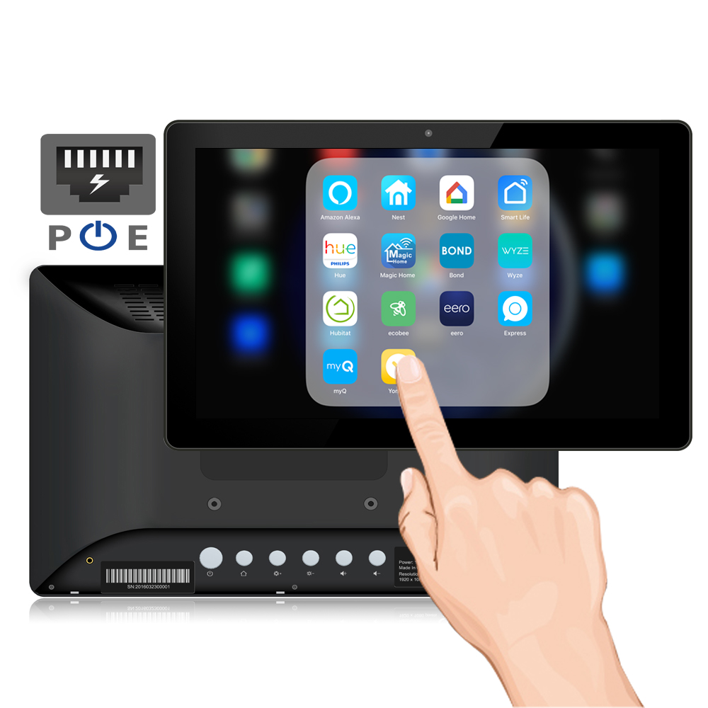 10 Inch Wall Mount PoE Android Tablet Pc (Rooted, Open Source, Universal Adb Driver, RK3288, 2GB-16GB, Serial Port, USB, Wifi)