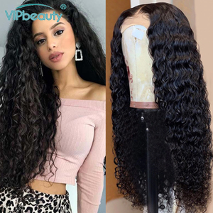 Deep Wave Human Hair Wigs For Women Pre Plucked Glueless 13x4 4x4 Lace Front Wig 150% Remy Malaysian Human Hair Wig Vipbeauty(China)