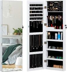 Зеркальный шкаф для ювелирных изделий на весь экран, настенная дверь, ювелирное изделие, Зеркало полной длины, большая емкость, ювелирное из...