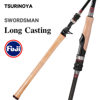 TSURINOYA Fishing Rod SWORDSMAN 872MH 2.65m 165g Spinning Casting rod FUJI accessories carbon lure Long Casting Bass rods