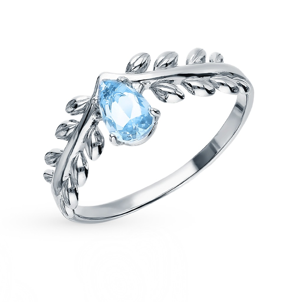 Silver Ring With Topaz Sunlight Sample 925