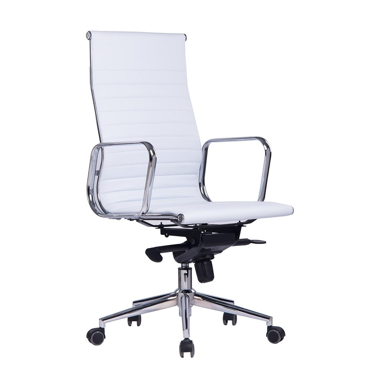 Office Armchair ARKANSAS, High, Similpiel White