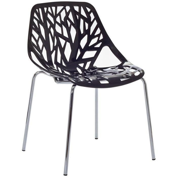 Chair RUM, Chrome Black Polypropylene