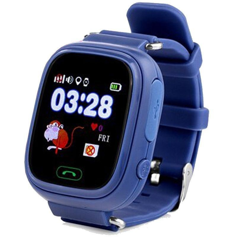 Smart Watch With Locator For Children Leotec Kids Way Navy Blue-lcd Touch Screen-gps-microsim-button