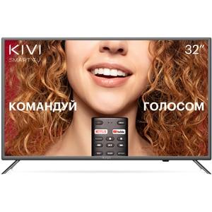 "Телевизор 32"" KIVI 32F710KB Full HD Smart TV Google Android TV 9 HDR Голосовой ввод Серый"