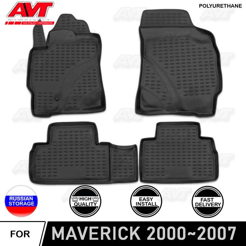 Fußmatten für Ford Maverick 2000 ~ 2007 polyurethan teppiche non slip gummi innen auto styling zubehör schmutz schutz decor