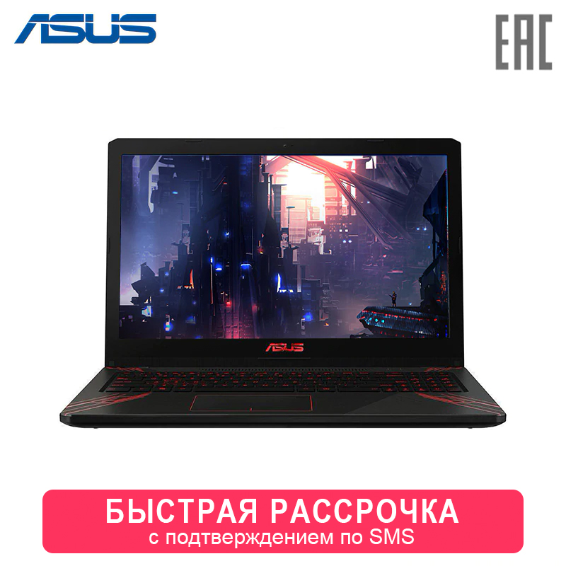 "Laptop ASUS FX570UD-DM191T 15.6 ""FHD Intel Core I7-8550U/8 GB/1 TB/GTX 1050 2 GB/noODD/Windows 10 Home (90NB0IX1-M02510) 0-0-12"