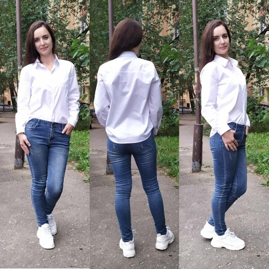 Spring One Pocket Women White Shirt Female Blouse Tops Long Sleeve Casual Turn Down Collar Ol Style Women Loose Blouses photo review