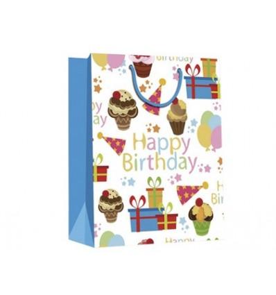 BAG MEDIUM GIFT ARGUVAL BIRTHDAY DETAILS 12 Pcs