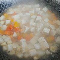 咖喱豆腐素什锦的做法图解4