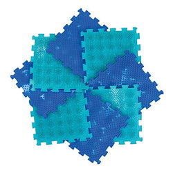 Massage mat Ortho Puzzle modular Mix Trail of health