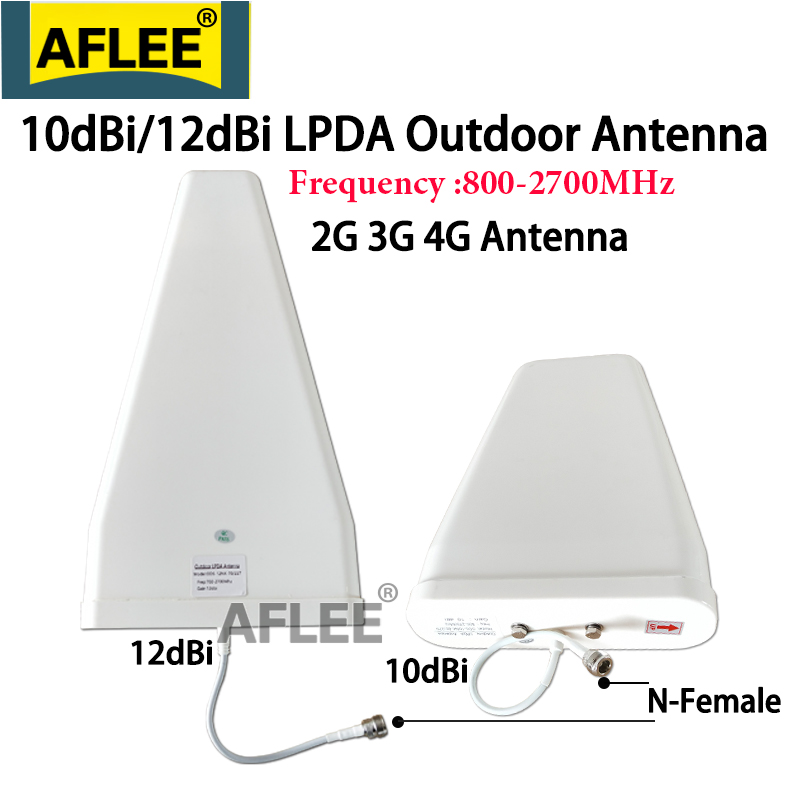 12dBi 4G Antenna 800~2700mhz N-Female Log-periodic Outdoor Antenna LPDA Antenna For Repeater GSM 2g 3g 4g Mobile Signal Booster