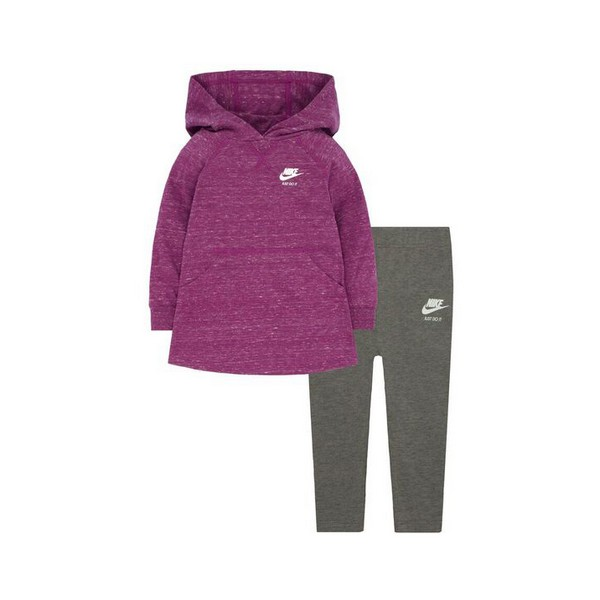 Baby's Tracksuit Nike 407S-GEH Purple Grey