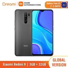 Versão global xiaomi redmi 9 32gb rom 3gb ram/64gb rom 4gb ram (novo/selado) redmi9, smartphone, celular, telefone