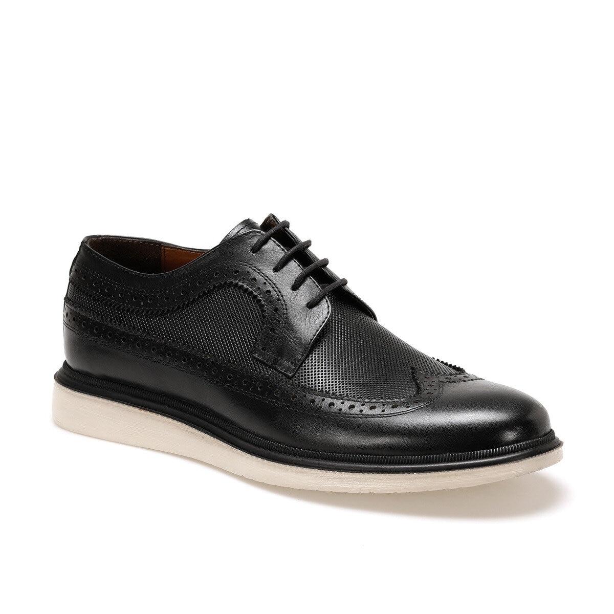 FLO 4229 Black Men Dress Shoes Garamond
