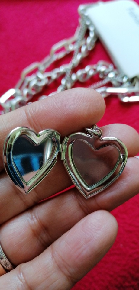 Multilayer Chain Necklace With A Heart Padlock_1 E-boy E-girl photo review