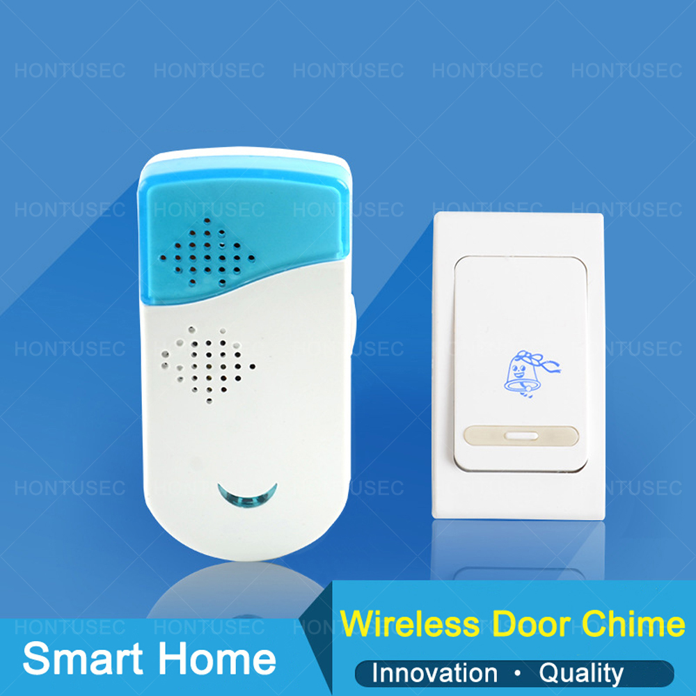HONTUSEC  Door Chime Wifi Door Bell & Chime Kit - Up To 100m Range Doorbell Chime Adjustable Volume Melody Music Remote Control