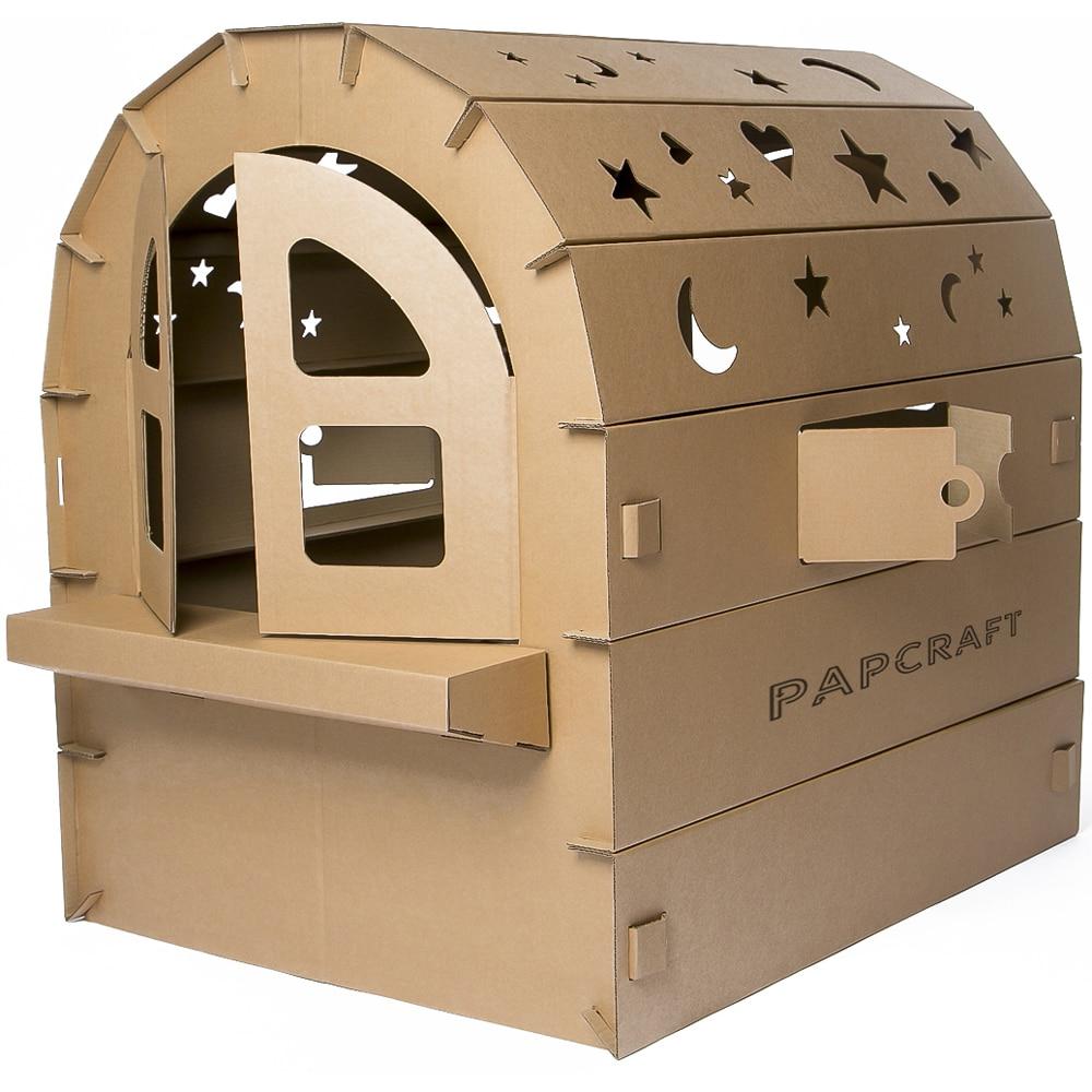 Papcraft Big Cardboard Playhouse For Kids