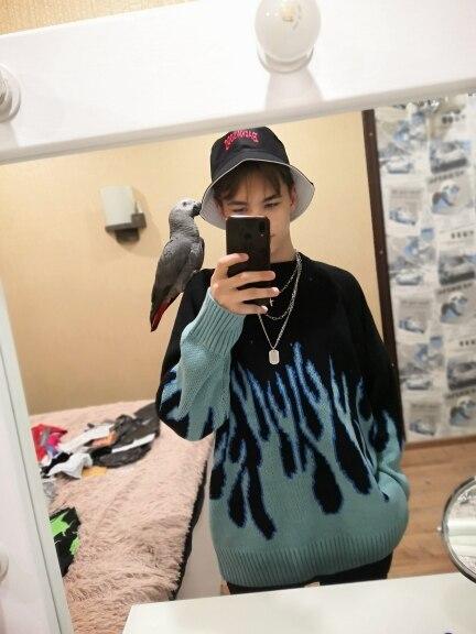 Flame Pattern Sweater E-girl E-boy photo review