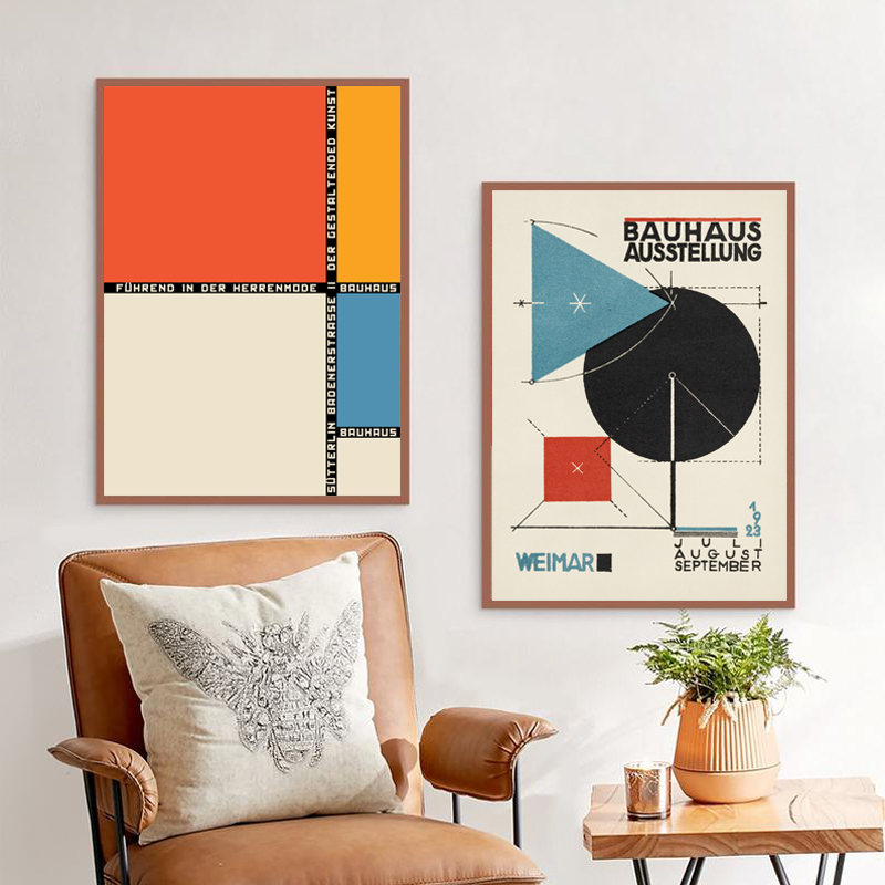 Bauhaus Art Exhibition Wall Art print