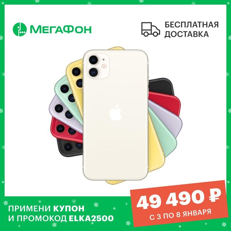 Смартфон Apple iPhone 11 64GB [Ростест, новый, SIM любых операторов, официальная гарантия]