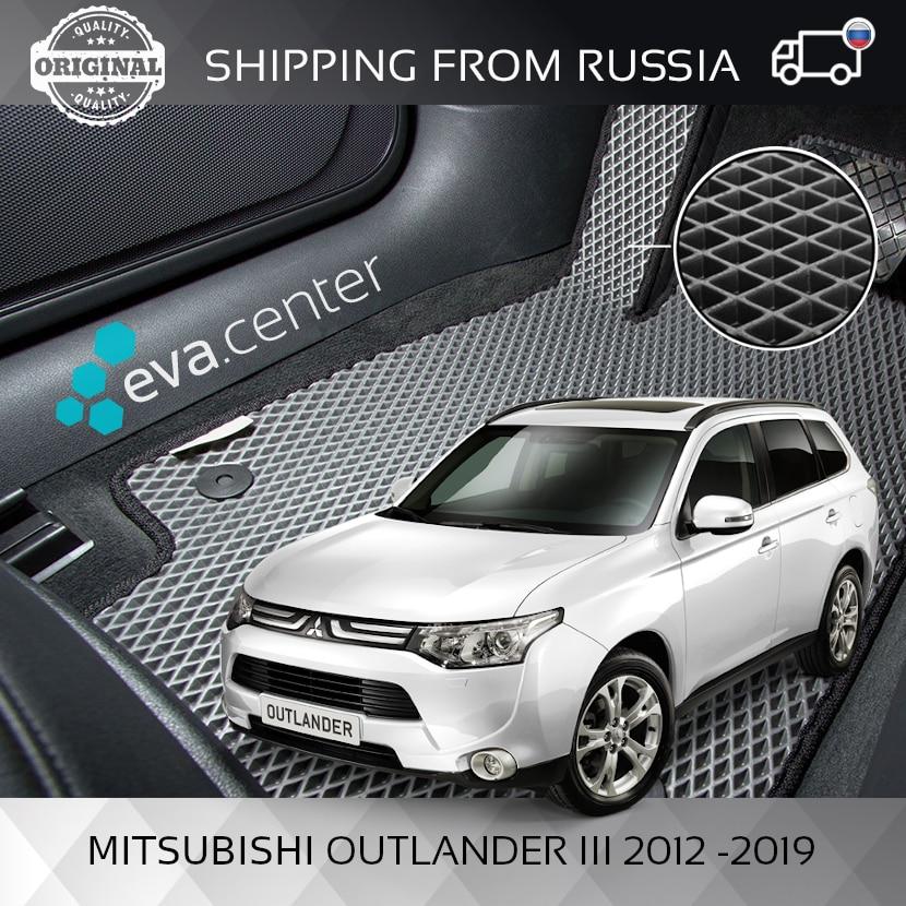 Tapis de voiture EVA pour Mitsubishi Outlander III 2012-2019 ensemble de 4x tapis et cavalier/Eva tapis voiture
