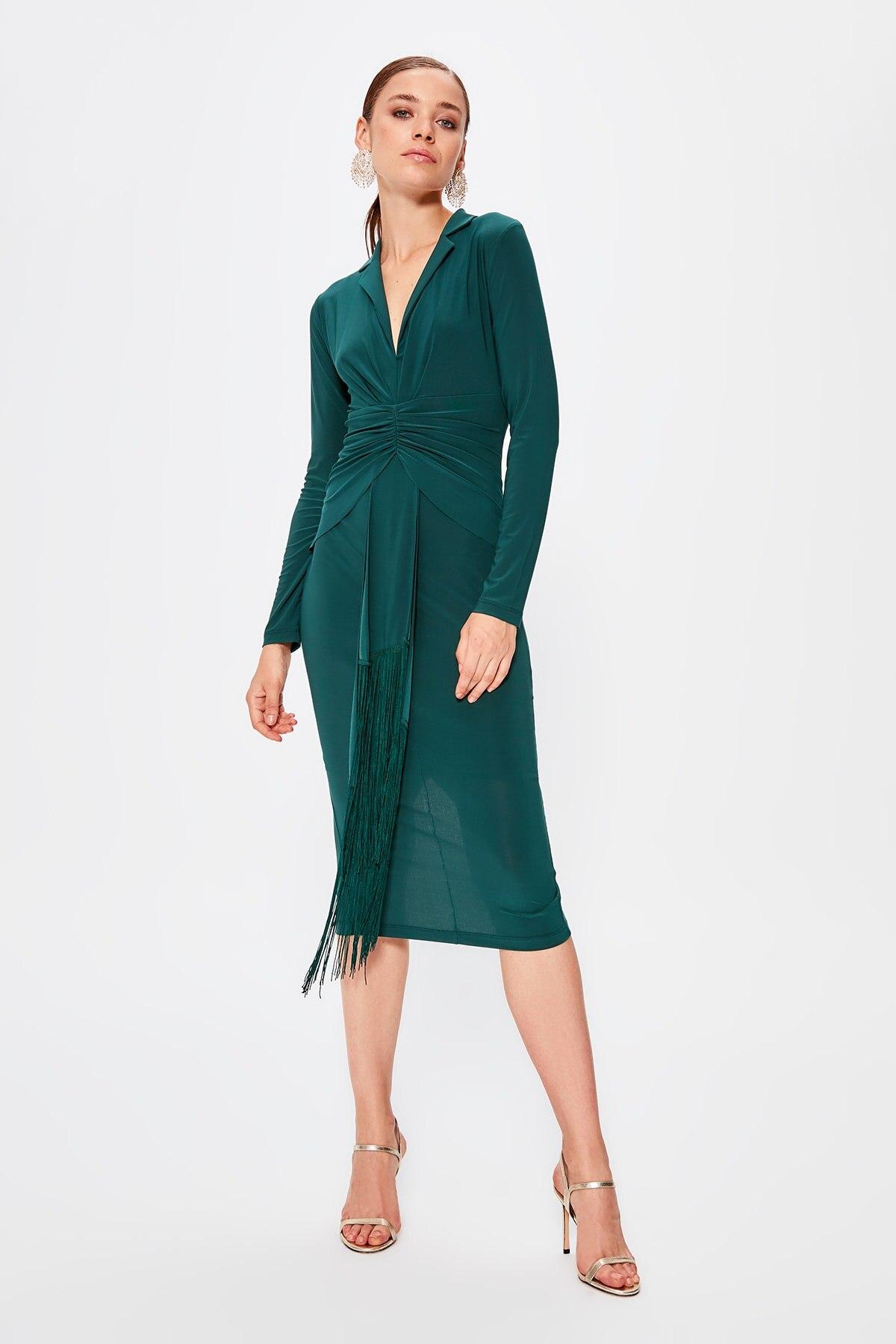 Trendyol Tassels Dress TPRAW20EL0890