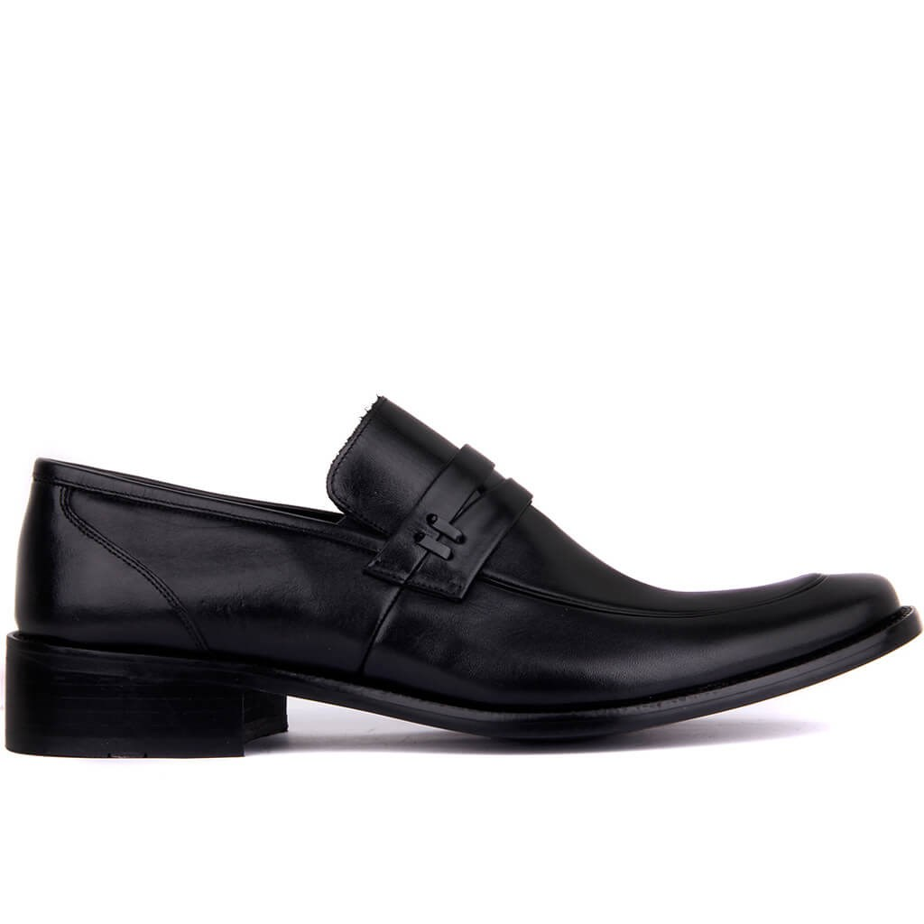 Fosco-Black Leather Neolit Men 'S Classic Shoes