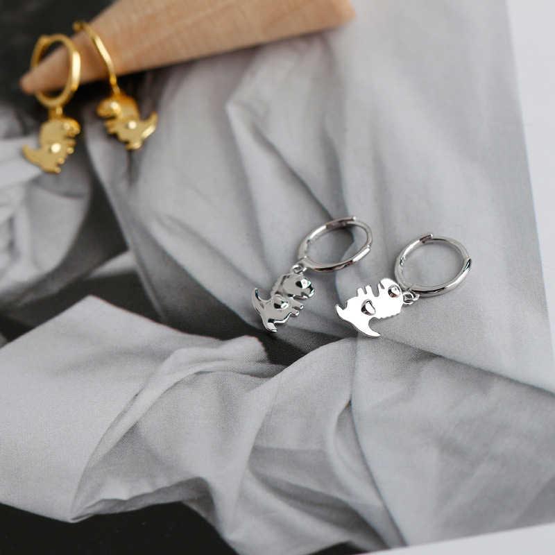 Pendientes BOAKO de plata de ley 925 con diseño de Animal dinosaurio CZ para Aniversario de compromiso, joyería fina para mujer