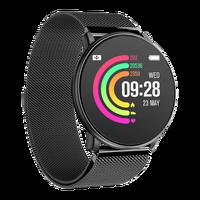 [SEGUNDA MÃO] Smartwatch Smart Watch para homens e mulheres esportes Língua espanhola à prova d'água com pulseira de metal ou borracha, despertador e lembrete de mensagem Andriod IOS Aliexpress plaza pulsera españa