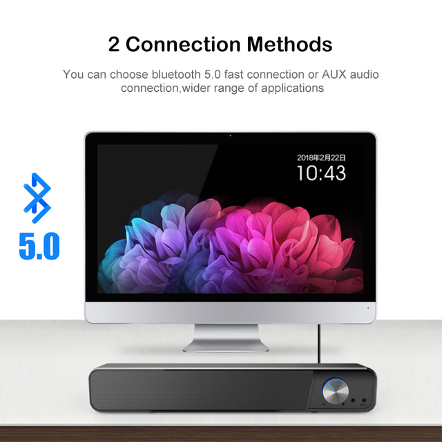 MiniBron Wireless Bluetooth Speaker Portable Bluetooth5.0 Speaker Wireless Speaker 4D Stereo Music Surround Speaker 2
