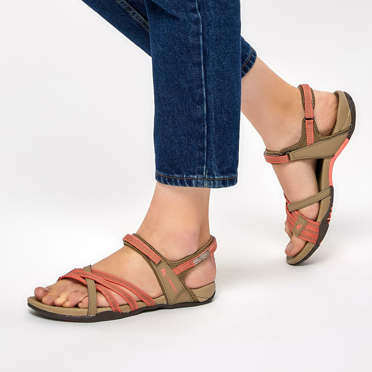 FLO EFTAL Burgundy Women 'S Sandals LUMBERJACK