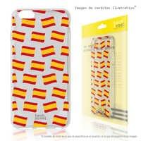 FunnyTech®Étui en Silicone pour IPhone X/XS L Mini drapeaux espagne