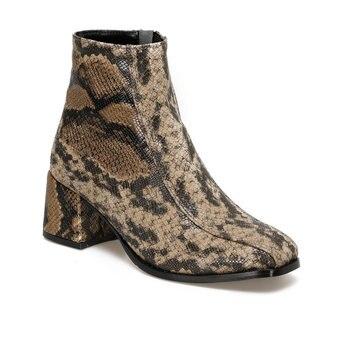 FLO 19SF-2093 Snake Color Female High-Heeled Boots BUTIGO