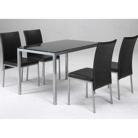 Set Table And 4 Chairs Salon Or Dining Various Colors
