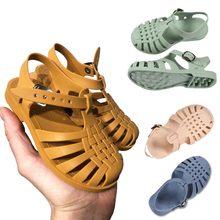 Sandales d'été pour petites Filles, Chaussures de Princesse antidérapantes, douces, Bonbons, Gelée, Chaussures de Plage