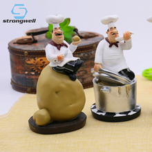 Strongwell Retro Chef Model Home Decoration Accessories Resin Crafts  Figurines Kitchen Decor Gifts