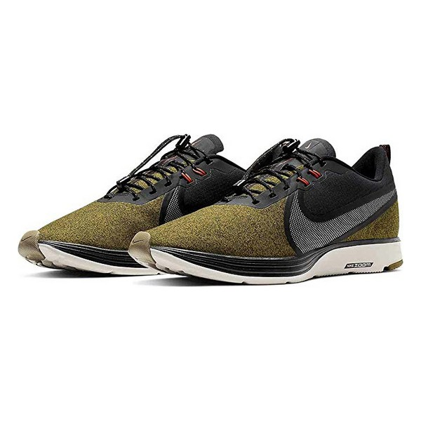 Running Shoes For Adults Nike ZOOM STRIKE 2 SHIELD Grey Green