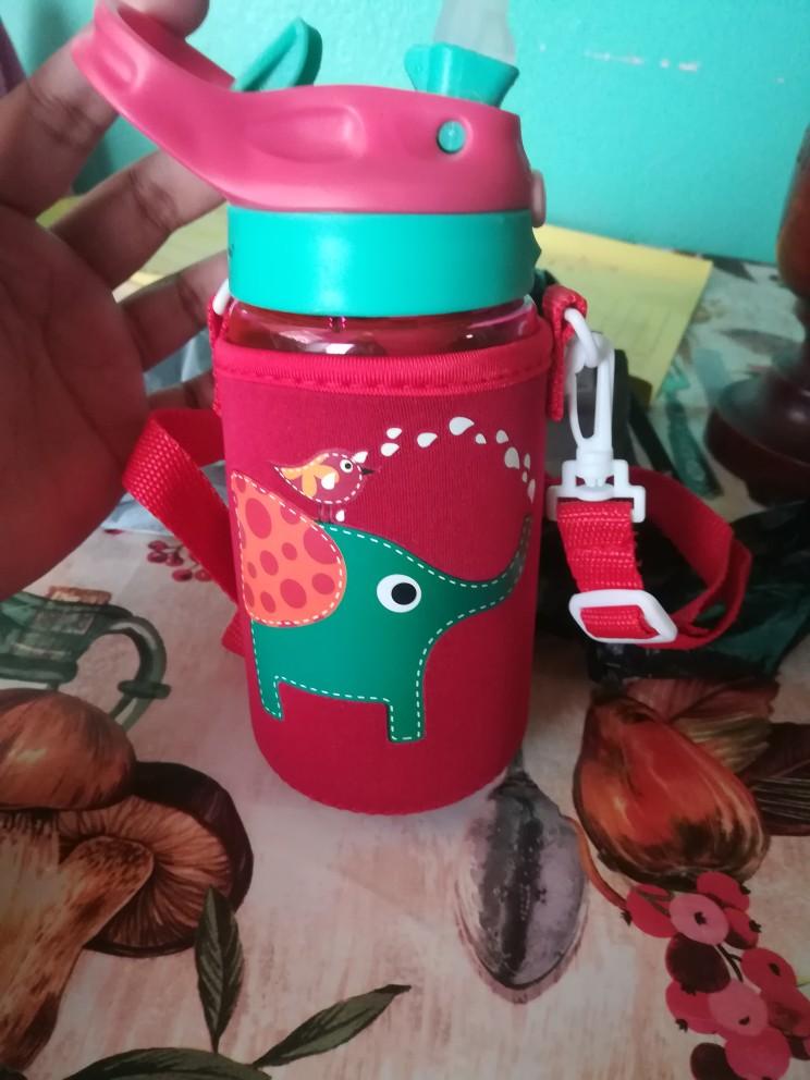 New 500ML 4 Colors Baby Water Bottles Infant Newborn Cup Children Learn Feeding Straw Juice Drinking Bottle BPA Free for Kids-in Water Bottles from Home & Garden on AliExpress