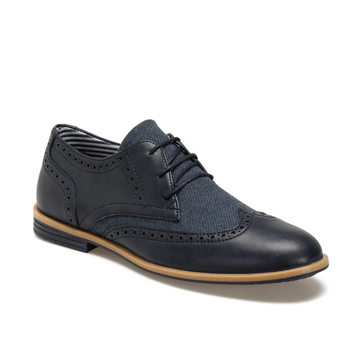 FLO 851 Navy Blue Men 'S Dress Shoes-Styles