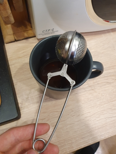 Stainless Steel Mesh Tea Strainer Metal Bag photo review