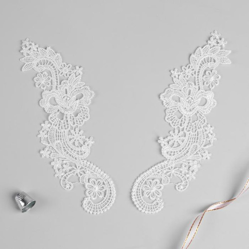 3557529 Appliques Sewing Lais Polyester 22,5*7 Cm White