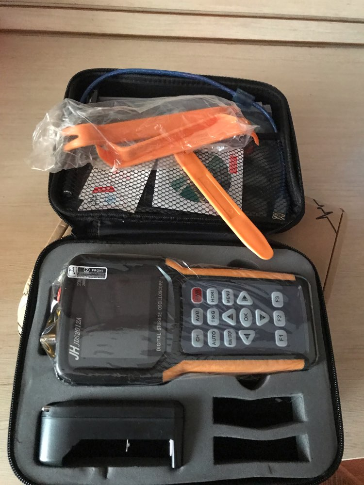 Handheld Digital Oscilloscope 1 Channels 20MHz Oscilloscope with 4000 Multimeter Multifunction Osciloscope  Jinhan JDS2012A