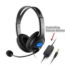 Przewodowy słuchawki dla graczy 40mm kierowcy bas Stereo HIFI słuchawki z mikrofonem izolacja hałasu dla PS4 na laptopa komputer stancjonarny dla graczy Gamer tanie tanio EJEAS Inne 115dB Brak 1 2m Do Internetu Bar Do Gier Wideo Wspólna Słuchawkowe Dla Telefonu komórkowego Słuchawki HiFi