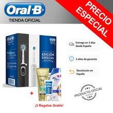 Oral-B Vitality D100 CrossAction Cepillos de dientes Eléctricos Blanco/Negro/Azul + 2 Champús Pantene y H&S + Pasta de dientes