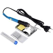 Soldering Iron Kit EU 110V 60W Electric Pencil Tools for Welding Soldering Set With Welder Wire Solder Tip