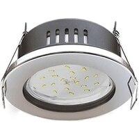 Ecola встраиbuilt-in 램프 IP65 크롬 98x55 fc5365ecb 4895041414970